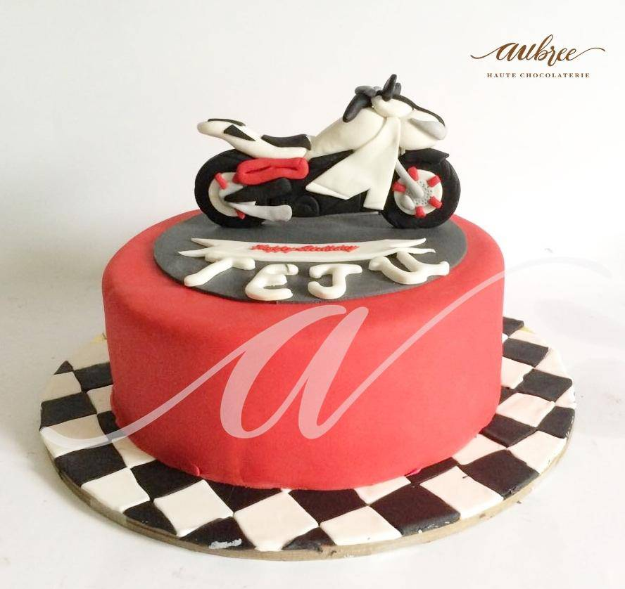 Sport Bike Cake - Eggless