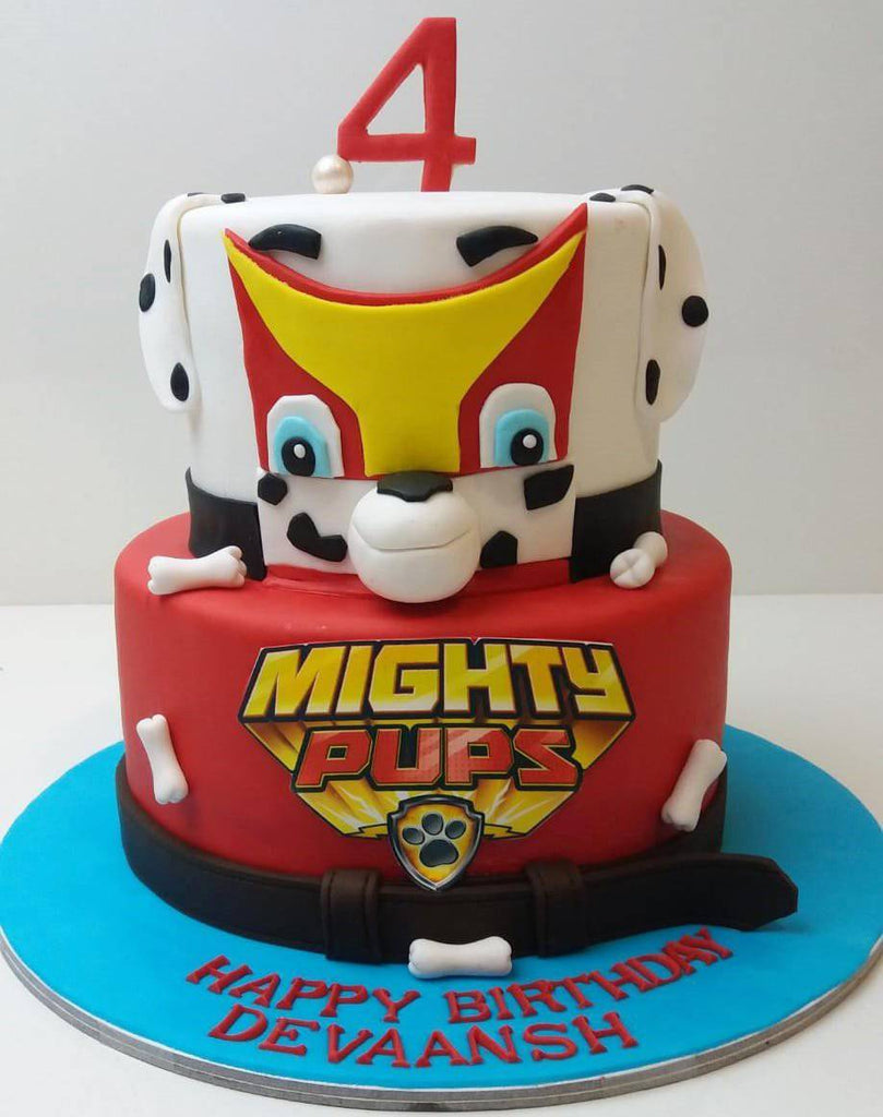 Mighty Pups Cake - Eggless