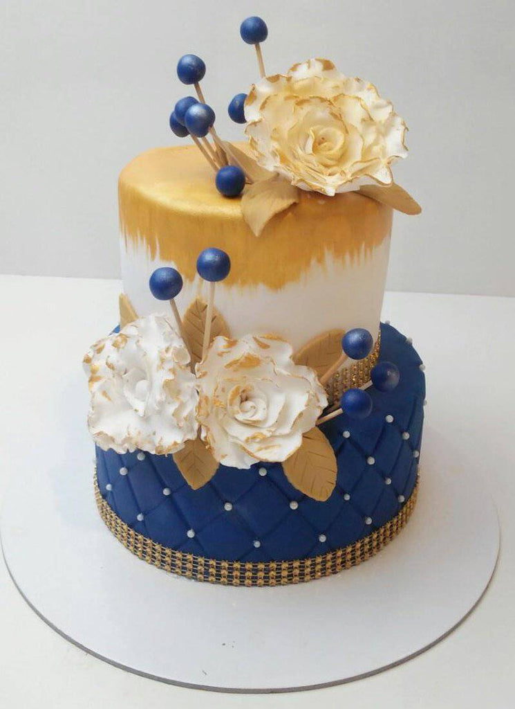 Royal Floral Cake - Eggless