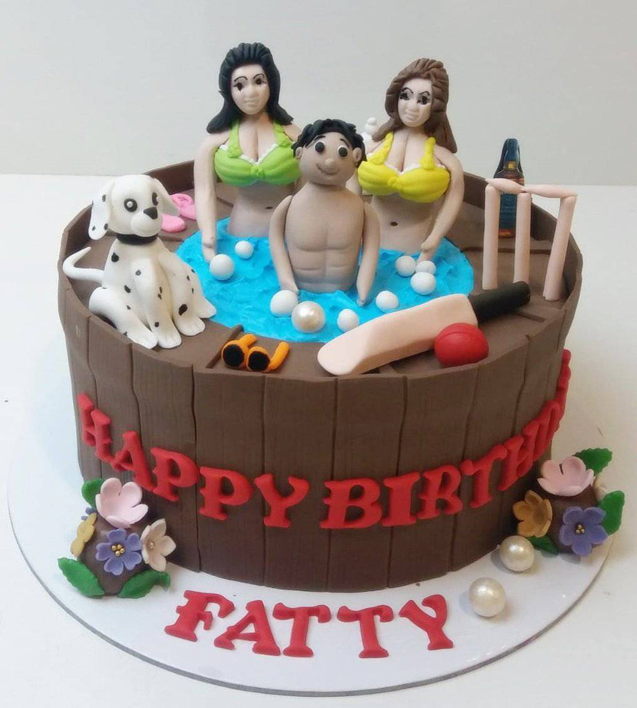 Young At Heart Party Cake - Eggless