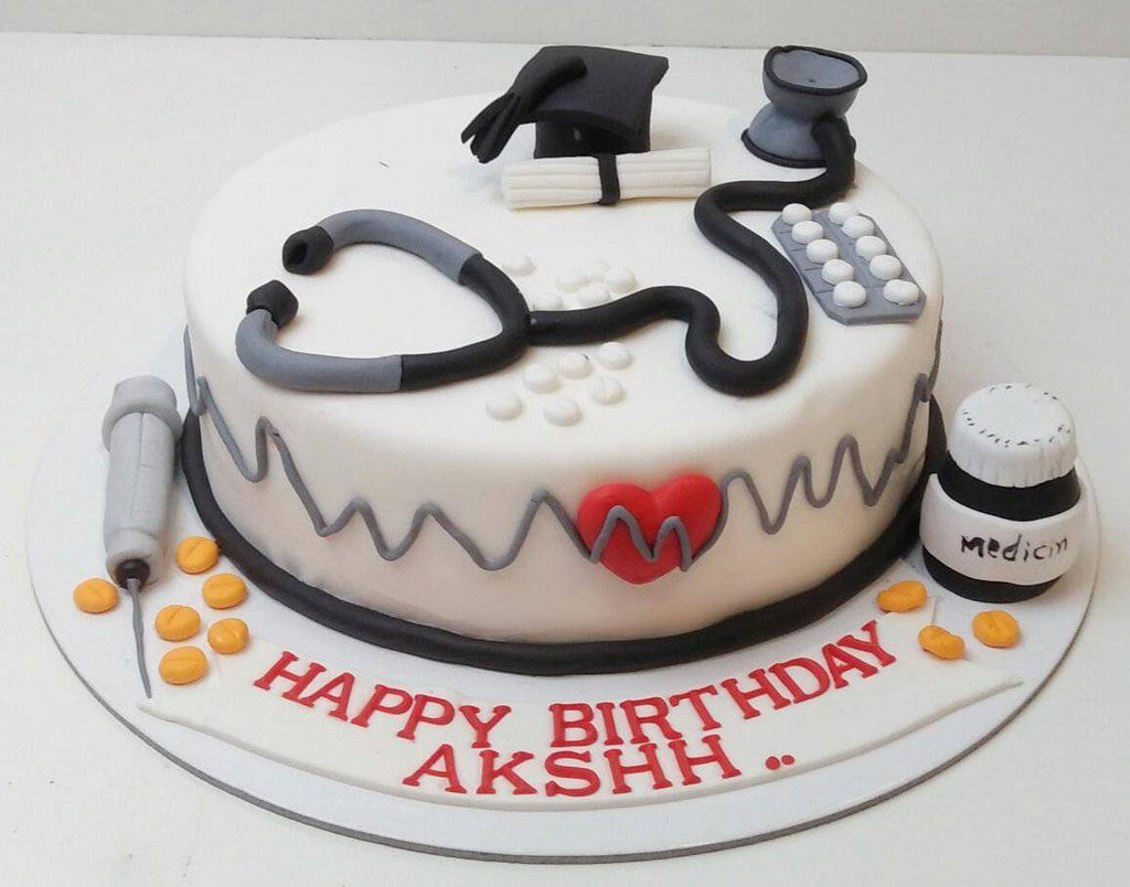 Doctor Theme Cake _ Eggless