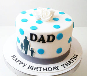 Dad Special Cake - Eggless