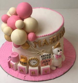Cute Teddy 1st Birthday Cake