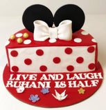 Mickey Theme Half Cake - Eggless