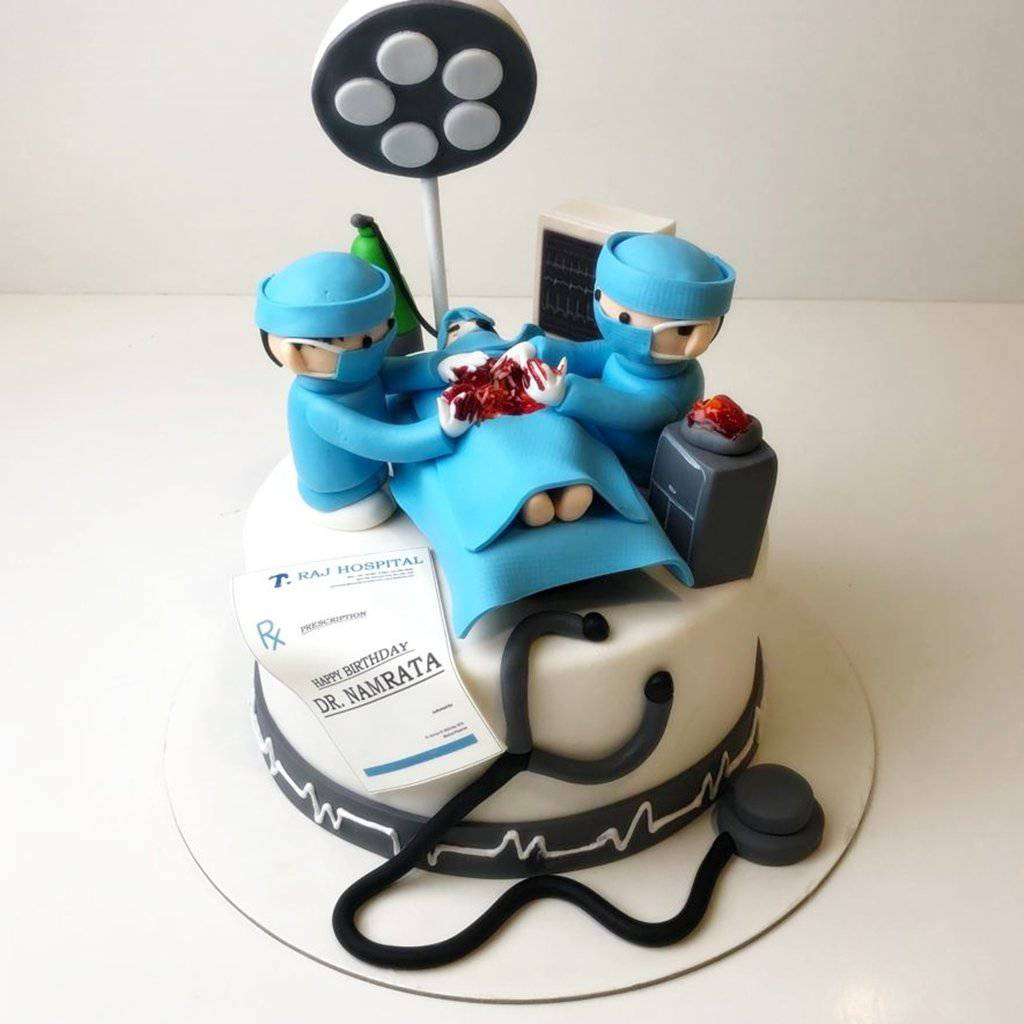 Doctor Operating Theme Cake - Eggless
