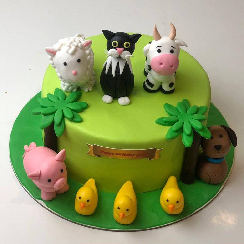 Farm Theme Cake 2 - Eggless