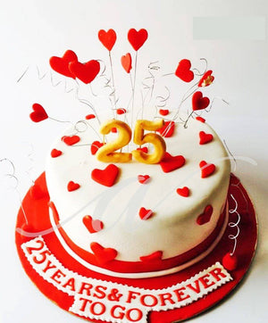 Anniversary Special Cake - Eggless