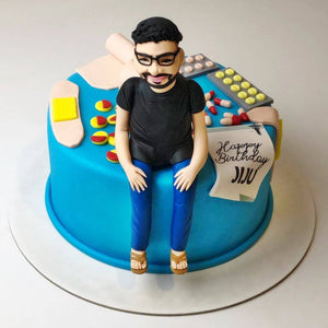 Doctor's Birthday Theme Cake - Eggless
