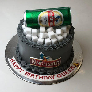 Kingfishers Birthday Cake - Eggless