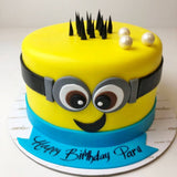 Minion Design Cake - Eggless