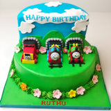 Thomas The Train Cake - Eggless