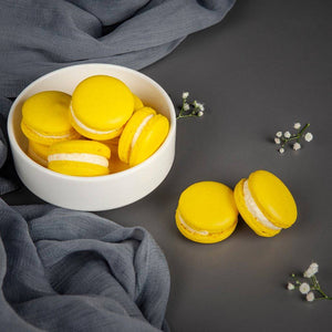 Passion Fruit Macarons (contains egg)