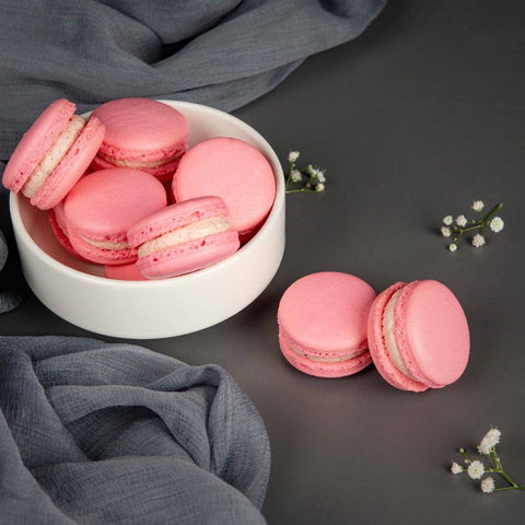 Strawberry Macarons (contains egg)