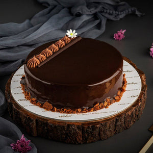 Mothers Day Chocolate Truffle Cake - Eggless