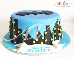 Batman Logo Cake - Eggless