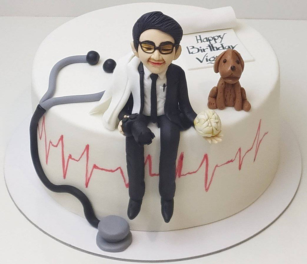 Doctor Theme Cake 2 - Eggless