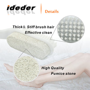 Double Sided Pumice Stone with Brush(2 pcs)