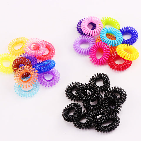 10PCS New Small Telephone Line Hair Ropes