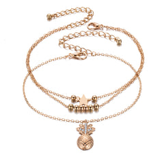 Ankle Chain Pineapple Pendant Anklet  for Women