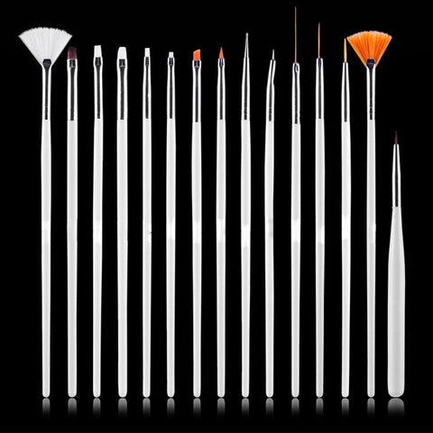 15pcs Nail Art Brush Professional UV Gel Acrylic Nails Tips Tools