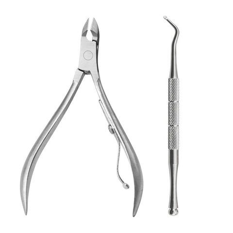 New 2PCS/Set Ingrown Toe Nail Correction Nippers Clipper Cutters