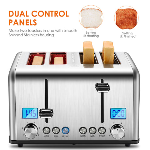 Stainless Steel 4 Slice Toaster ST030