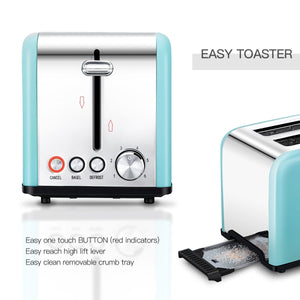 ST003 2 Slice Stainless Steel Toaster