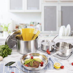 10 Pcs Stainless Steel Cookware Set SA002