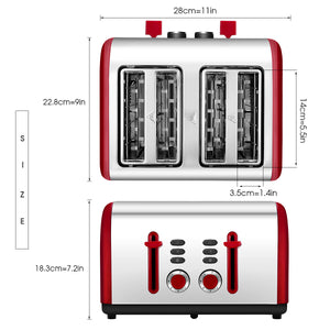 ST009 4-Wide Slots Multi-functional Toaster