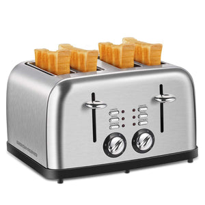 ST027 Retro Stainless Steel Toaster