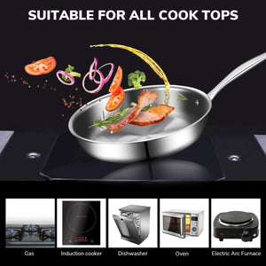 SA002 10 Pcs Stainless Steel Cookware Set