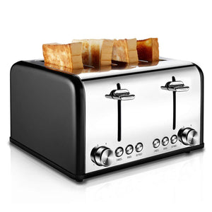 ST006 4-Slice Stainless Steel Extra Wide Slots Toaster