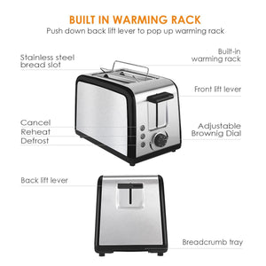 ST002 2 Slice Wide Slot Toaster