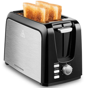 ST025 2 Slice Black Toaster