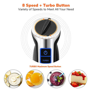 BL006 8-Speed Control Stainless Steel Blender