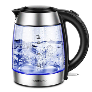EK007 1.7L Cordless Electric Glass Kettle