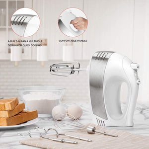 5-Speed Electric Handheld Mixer Black HM009