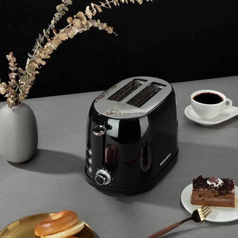 2 Slice Toaster with 50s Retro Aesthetic ST032