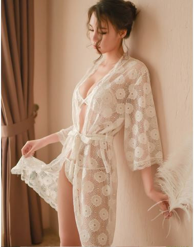 Soft Lace Robe