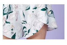 Load image into Gallery viewer, Green Floral Camisole Set