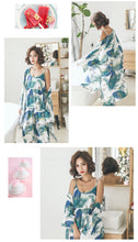 Load image into Gallery viewer, Green Floral 3-Piece Pajamas Set