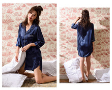Load image into Gallery viewer, One Piece Silk Pajamas (Plus Size)