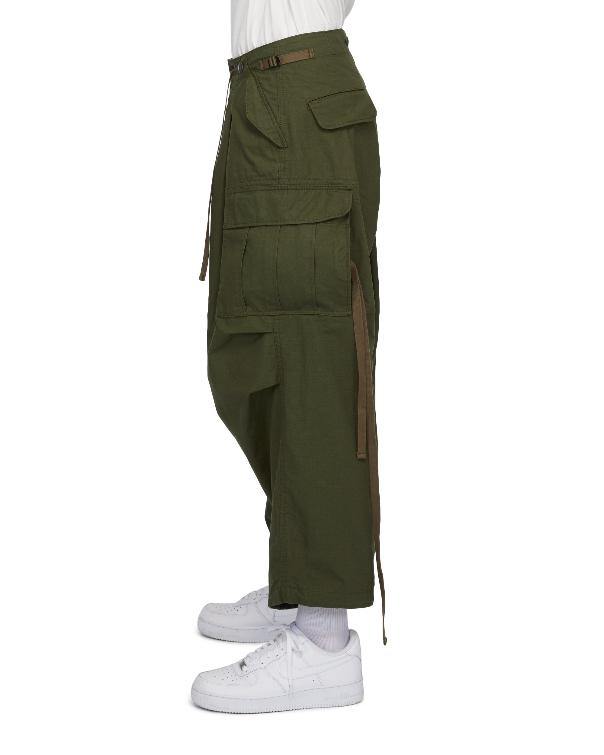 Huge Pockets Cargo Pants - Olive