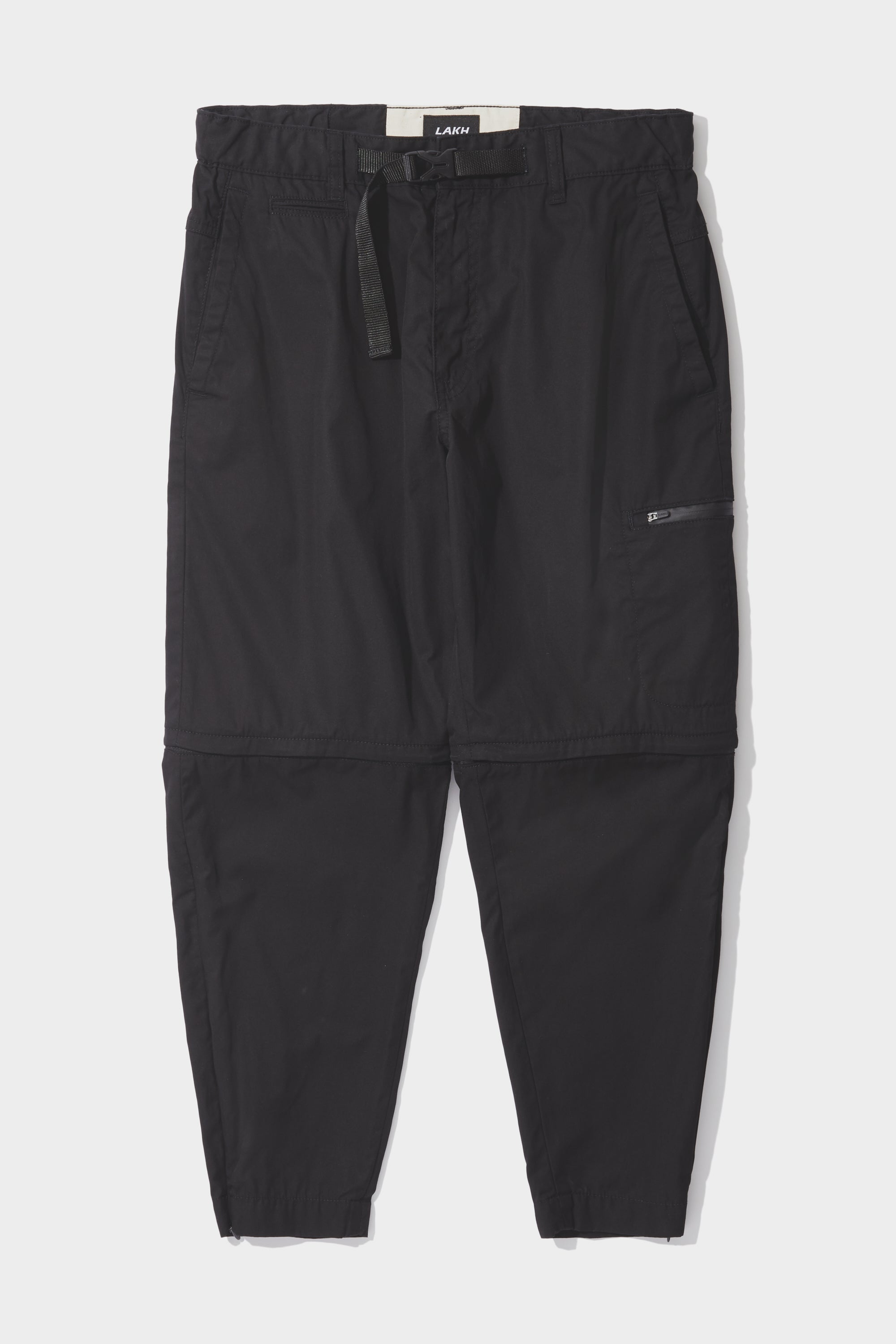 Detachable Zip Pants - Black
