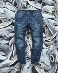 Pinroll Jogger Denim 2.0 - Distressed Navy