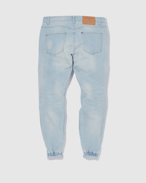 Pinroll Jogger Denim 2.0 - Distressed Light Blue