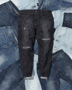 Pinroll Jogger Denim 2.0 - Distressed Black