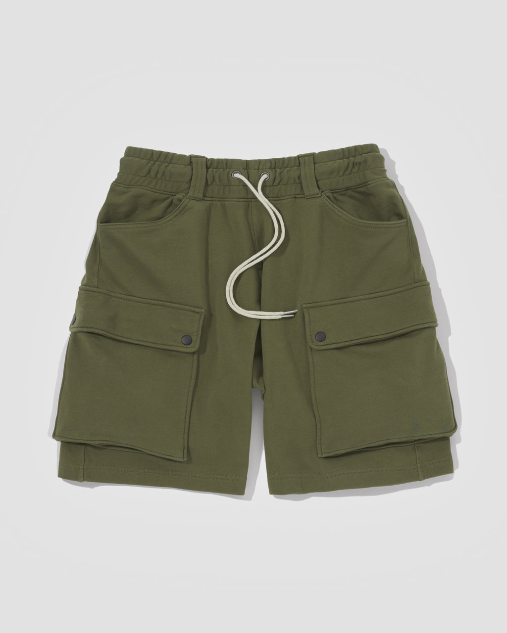Knitted Shorts - Army Green