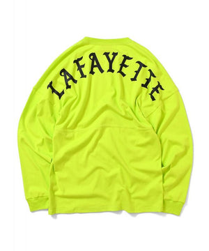 LFYT Arch Logo Drop Shoulder LS Tee - Safety Green