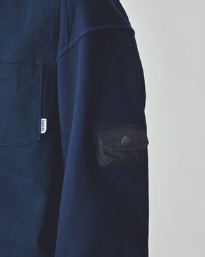 Polo Long Tee - Navy